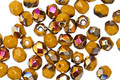 Czech Glass Mustard AB Fire Polished Round 4mm