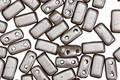 CzechMates Glass Pearl Coat Brown Sugar 2-Hole Brick 3x6mm
