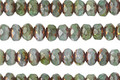Czech Glass Bronzed Succulent Fire Polished Rondelle 3x5mm