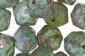 Czech Glass Bottle Green Picasso Luster English Cut Bead 8x10mm
