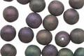 Czech Glass Matte Iris Purple Round Druk 6mm