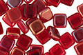 CzechMates Glass Twilight Siam Ruby 2-Hole Tile 6mm