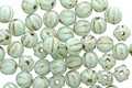 Czech Glass Sweet Mint w/ Gold Luster Melon Round 4mm