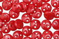CzechMates Glass Opaque Red 2-Hole Lentil 6mm