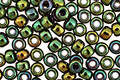 TOHO Higher Metallic Iris Green Round 6/0 Seed Bead