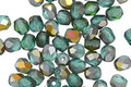 Czech Glass Blue/Green Emerald AB Fire Polished Round 4mm