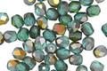 Czech Glass Blue/Green Emerald AB Fire Polished Round 4mm