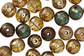 Czech Glass Old World Picasso Round Druk 6mm