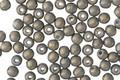 Czech Glass Pacifica Poppy Seed Round Druk 3mm