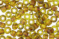 TOHO Frosted Transparent Lime Green Picasso Hybrid Round 6/0 Seed Bead