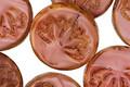Czech Glass Desert Rose Picasso Lotus Coin 18mm