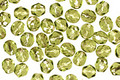 Czech Fire Polished Glass Silver Lined Olivine Round 4mm