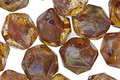 Czech Glass Glowing Amber Picasso English Cut Bead 8x10mm