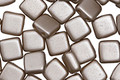 CzechMates Glass Pearl Coat Brown Sugar 2-Hole Tile 6mm