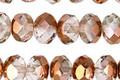 Czech Glass Crystal w/ Metallic Copper Rondelle 6x9mm