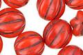 Czech Glass Apple Red Melon Round 12mm