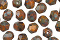 Czech Glass Patina Fire Polished Round 6mm