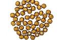 Czech Fire Polished Glass Matte Metallic Antique Gold Round 2mm
