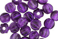 Czech Glass Magic Purple Large Hole Melon Round 6mm