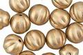 Czech Glass Matte Metallic Flax Gold Melon Round 8mm
