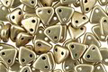CzechMates Glass ColorTrends: Sueded Gold Cloud Dream 2-Hole Triangle 6mm