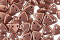 CzechMates Glass ColorTrends: Sueded Gold Ash Rose 2-Hole Triangle 6mm