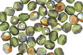 Czech Glass Matte Olivine AB Fire Polished Round 4mm