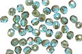 Czech Glass Aquamarine Bronze Luster Fire Polished Round 3mm