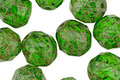 Czech Glass Green Apple Picasso Fire Polished Round 10mm