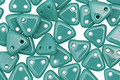 CzechMates Glass Persian Turquoise 2-Hole Triangle 6mm