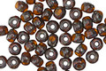 Czech Glass Pumpkin Picasso Trica Beads 2.5x4mm