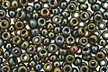 TOHO Metallic Iris Green/Brown Round 11/0 Seed Bead