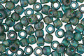 TOHO Transparent Frosted Teal Picasso Hybrid Round 6/0 Seed Bead