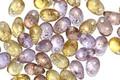 Czech Glass Royal w/ Gold Marble Teardrop 3x5mm