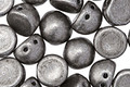CzechMates Glass Saturated Metallic Sharkskin 2-Hole Cabochon 7mm