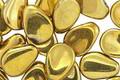 Czech Glass Gold Petal Drop 8x11mm