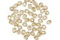 Czech Glass Luster Transparent Champagne Fire Polished Round 2mm