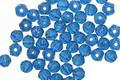 Czech Glass Capri Blue English Cut Round 3mm
