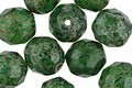 Czech Fire Polished Glass Emerald Picasso Round 10mm