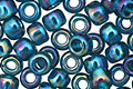 TOHO Transparent Rainbow Teal Round 6/0 Seed Bead
