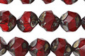 Czech Glass Ruby Picasso Chandelier Cut 8mm