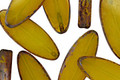 Czech Glass Lemon Picasso Horse Eye 18x8mm