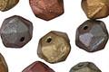 Czech Glass Matte Autumn Metallics English Cut Bead 8x10mm
