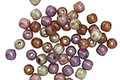 Czech Glass Lustered Fruit Cake Round Druk 3mm