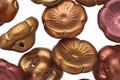 Czech Glass Matte Metallics Primrose Button 12mm