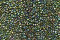 TOHO Transparent Rainbow Olivine Round 15/0 Seed Bead