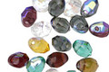 Czech Glass Mixed Jewels Fire Polished Top Drilled Drop 5x7mm