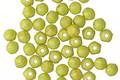 Czech Glass Pacifica Honeydew English Cut Round 3mm