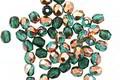 Czech Glass Emerald w/ Copper Fire Polished Round 3mm