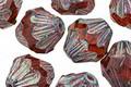 Czech Glass Medium Topaz Picasso Baroque Bicone 13x11mm